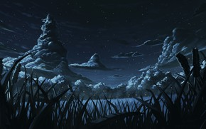 Картинка небо, пейзаж, ночь
