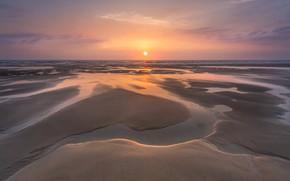 Картинка sea, coast, sunset