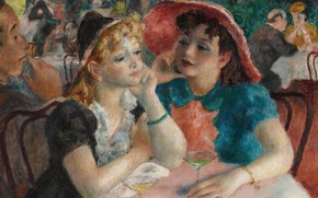 Картинка девушки, картина, жанровая, At Five, Robert Philipp, Роберт Филипп