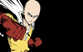 Картинка герой, Сайтама, Ванпачмен, Onepunch-Man