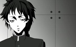 Картинка взгляд, парень, Sayonara Zetsubo Sensei
