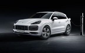 Картинка Porsche, 2018, Cayenne, кроссовер, E-Hybrid