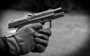 Картинка metal, gun, gloves