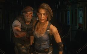 Картинка девушка, мужчина, Обитель Зла, Resident Evil 3, Resident Evil 3 (2020)
