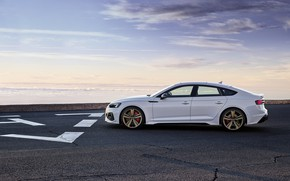 Картинка закат, Audi, вечер, вид сбоку, RS5, Sportback, RS 5, 2020
