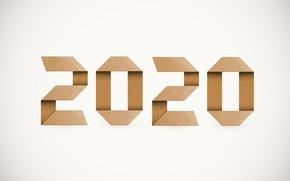 Картинка бумага, Новый год, New Year, 2020