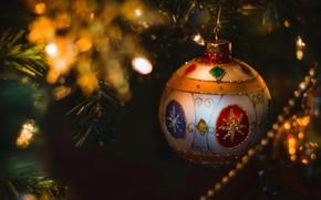 Картинка шар, Рождество, Новый год, ёлка, шрик