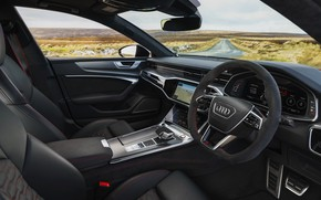 Картинка Audi, интерьер, салон, RS 7, 2020, UK version, RS7 Sportback