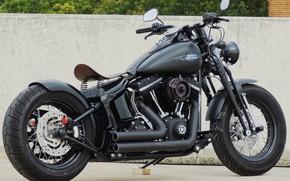 Картинка Harley-Davidson, Custom, Motorcycle