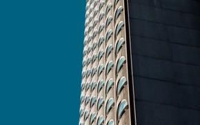 Картинка небо, здание, окна, архитектура