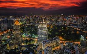 Картинка ночь, город, огни, красота, Таиланд, Бангкок, Thailand, Bangkok