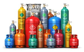 Картинка colors, tubes, different gases, safety codes
