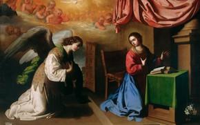 Картинка Благовещение, Francisco de Zurbaran, 1650