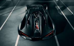 Картинка Lamborghini, суперкар, вид сверху, гиперкар, Terzo Millennio