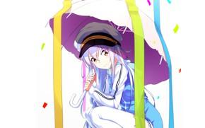 Картинка зонт, девочка, Island