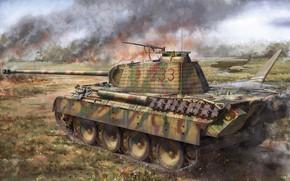 Картинка пантера, танк, вермахт, средний, панцерваффе, Pz.Kpfw.V Panther A Early