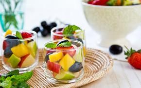 Картинка ягоды, завтрак, утро, фрукты