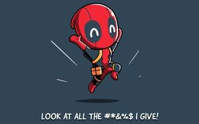 Картинка фон, малыш, арт, костюм, комиксы, Deadpool, Дедпул
