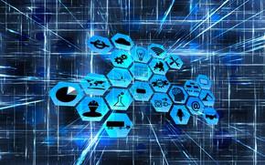 Картинка сеть, промышленность, интернет, значки