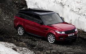 Картинка грязь, Land Rover, Range Rover, Range Rover Sport, 2016, V8, 510 л.с., 5.5 л.