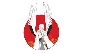 Картинка ангел, парень, Touken Ranbu, Танец Мечей