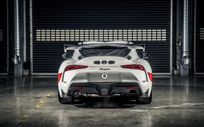 Картинка купе, Toyota, вид сзади, Supra, 2020, Gazoo Racing, GR Supra GT4