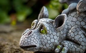 Картинка дракон, скульптура, дракончик
