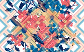 Картинка фон, текстура, Abstract, design, background, elements, Summer, Texture, geometric, Floral
