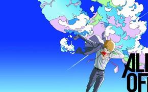 Картинка аниме, арт, мужчина, парень, учитель, сенсей, Mob Psycho 100, Моб психо 100