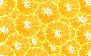Картинка оранжевый, фон, ломтики, background, fruit, orange, мандарин, mandarin, slice