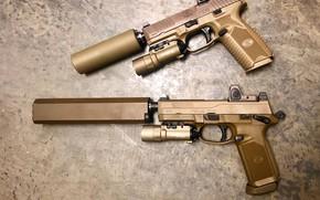 Картинка оружие, пистолеты, глушители
