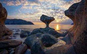 Картинка море, скалы, Норвегия, Sogn og Fjordane