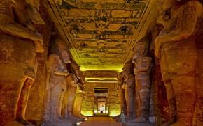 Картинка Египет, Абу-Симбел, храм Рамсеса Второго