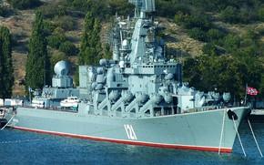 Картинка Москва, крейсер, ракетный, гвардейский, проект 1164