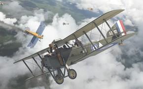 Картинка Бомбардировщик, военный самолёт, Armstrong Whitworth F.K.8, британский двухместный универсальный биплан