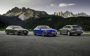 Картинка горы, Audi, седан, S4, A4, 2019, универсалы, A4 Avant, A4 Allroad Quattro