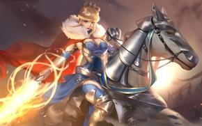 Картинка девушка, лошадь, Fate / Grand Order, Судьба великая кампания