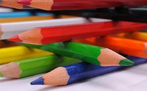 Картинка краски, карандаши, рисование, грифель