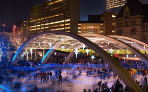Картинка площадь, Канада, каток, Торонто, Натан Филлипс сквер
