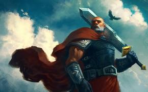 Картинка фон, меч, богатырь