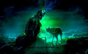 Картинка волк, киборг, Metal Gear Solid, Metal Gear Solid V: The Phantom Pain