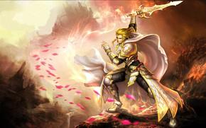 Картинка меч, парень, League of Angels