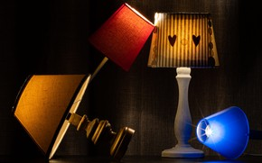 Картинка свет, лампы, цвет