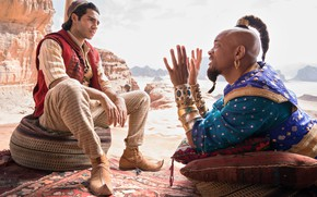 Картинка Aladdin, Will Smith, Уилл Смит, Аладдин, Джинн, Mena Massoud, Мена Массуд