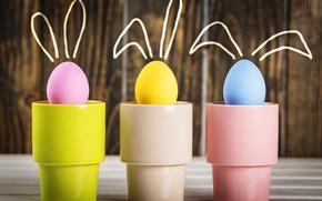 Картинка яйца, весна, Пасха, стаканы, easter