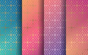 Картинка фон, colors, текстура, геометрия, орнамент, pattern, seamless