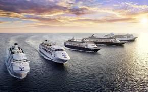 Картинка Океан, Море, Лайнер, Судно, Техника, Флот, Пассажирское судно, Пассажирский лайнер, Ship, Vessel, Cruise Ship, Пассажирские ...