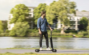 Картинка Audi, Ауди, concept, концепт, e-scooter, electric scooter, functionality and style for the last mile, Audi …