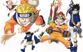 Картинка коллаж, Наруто, Naruto, Саске Учиха, Сакура Харуно, Узумаки Наруто