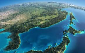Картинка earth, bird's-eye view, Northeast Asia